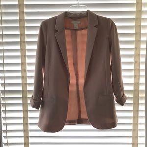 Light Pink 3/4 Sleeve Blazer